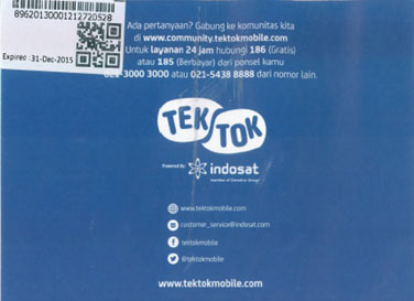 Kartu Perdana Indosat TekTok Mobile