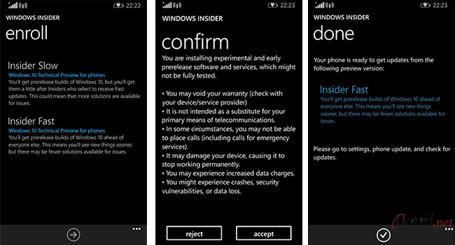 Windows 10 for Phone Insider