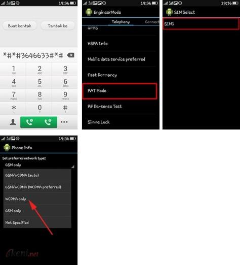 Cara Agar Jaringan Android Selalu 3G atau 4G