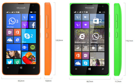 Microsoft Lumia 430 vs Lumia 435