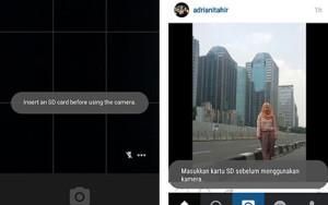 Kartu SD tidak terbaca oleh Instagram