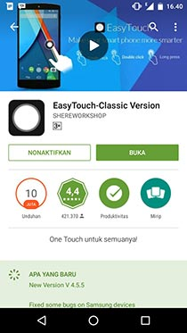 Hapus Easy Touch di Android