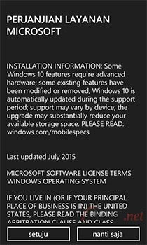 Install Windows 10 Mobile di Lumia