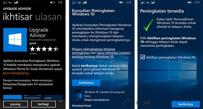 Lumia Upgrade Windows 10 Mobile Official