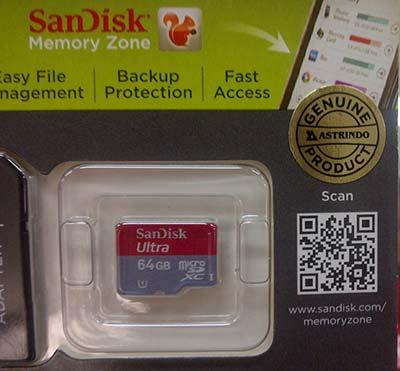 MicroSD Sandisk