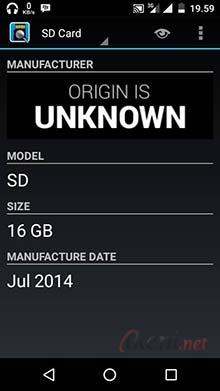 Contoh MicroSD Palsu: Manufacture tidak dikenali