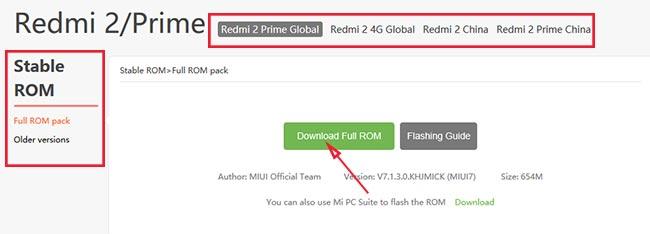 Stable ROM MIUI Xiaomi Redmi 2 Prime