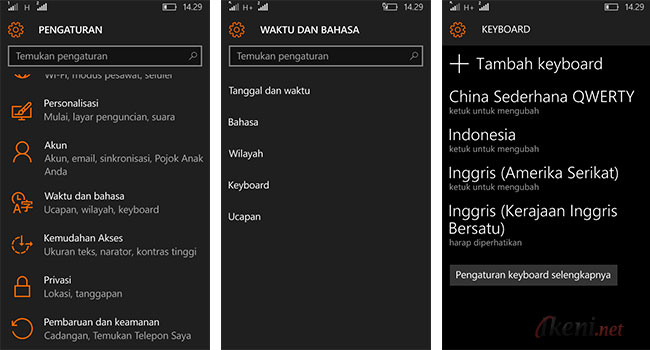 Add Language Keyboard Windows 10 Mobile