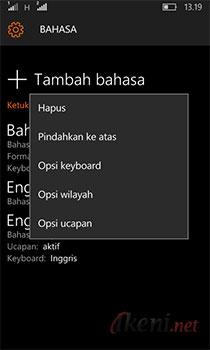 Mengubah Bahasa di Windows 10 Mobile