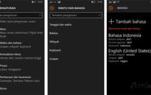 Setting Bahasa di Windows 10 Mobile