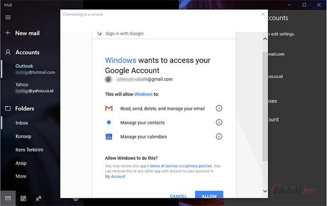 Menambah Akun Email di Aplikasi Mail Windows 10   Ikeni.net
