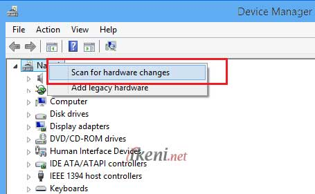 Device Manager Scan Hardware