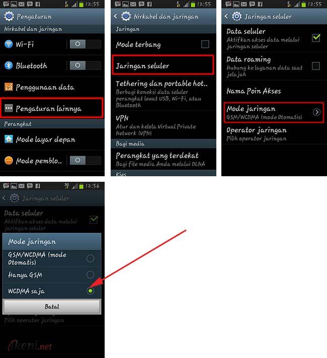 Cara Lock Jaringan Android Ke 3g Atau 4g Ikeni Net