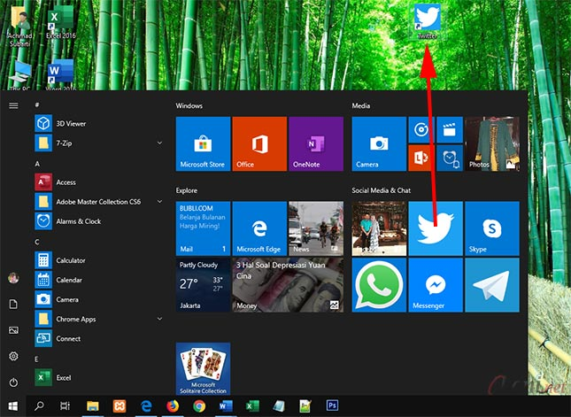 Tips Windows 10 Cara Cepat Menampilkan Icon Shortcut Aplikasi Di Desktop Ikeni Net